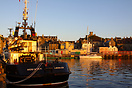 The Kebister at dawn in Lerwick Harbour.  Built in 1990 by James N. Mi...