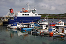 The Ro-ro ferry Linga at berth at Whalsay, Shetland.  Built by Stoczni...