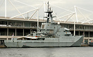 HMS Mersey on show at the London Excel Centre's Defence and Security E...