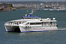One of Wightlink's latest high speed vessels departing Portsmouth for ...