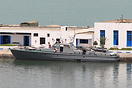 V105 is a French built 25m patrol boat seen here berthed in Tunis. Cur...