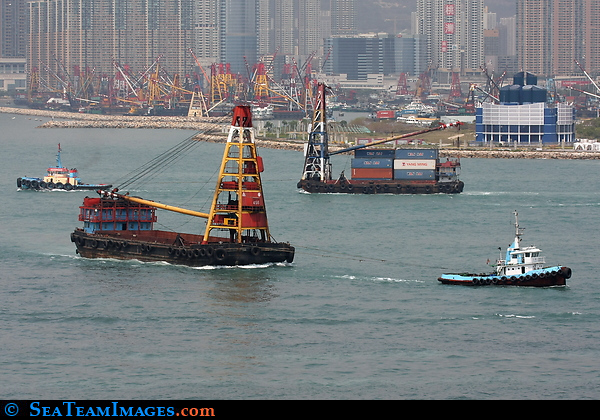 Hong Kong Container Barges