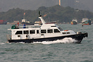 The Sing Wai Launch Service boat 'Hung Wai 10' provides water bus serv...