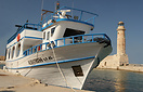 Pleasure cruiser 'Albatross' takes a rest in Chania harbour.