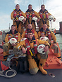 RNLI Shoreham Harbour crew seen here on board the Tyne class lifeboat ...