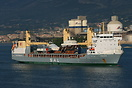 SAL - Schiffahrtskontor Altes Land general cargo ship 'Frauke' arrivin...