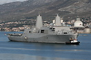 USS San Antonio (LPD-17) is designed to deliver up to 800 Marines asho...