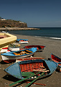 Fishing boats resting at Playa de Santiago on the beautiful island of ...