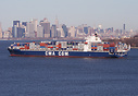 CMA CGM Swordfish, seen here arriving in New York.