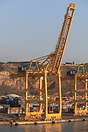 Container handling gantry cranes at Barcelona made by The Shanghai Zhe...