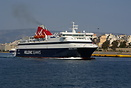 Hellenic Seaways ferry 'Nissos Chios' sailing from Piraeus