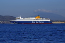Blue Star Ferries 'Blue Star Paros' just after sailing from Piraeus bo...