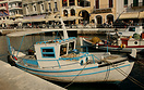 A fishing boat in Agios Nikolaos, Crete. According to legend, the godd...