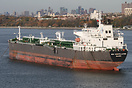 Crude oil tanker 'New Constellation' at anchor in the Verrazano-Narrow...