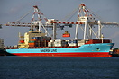 Maersk Line 'Nysted Maersk' Fissherman Island container terminal in Br...