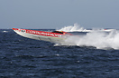 Aquasport's Centaurian Yachts boat battles the waves at the Powerboat ...