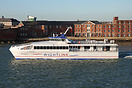Wightlink's new high-speed catamaran passing Portsmouth's Round Tower,...