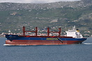 Brand new bulker 'Peristil' departing from shipyard Brodosplit in Spli...