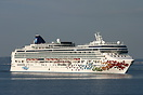 Norwegian Cruise Line 'Norwegian Gem' anchored off Split.