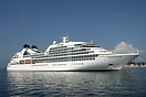Seabourn Cruise Lines 'Seabourn Odyssey' arriving at Split.