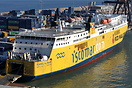 Iscomar ferry 'Isabel Del Mar' seen here berthed at Barcelona.