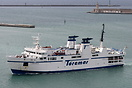 Toremar Ferry 'Liburna' arriving at Livorno.