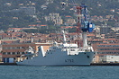 French Navy hydrographic survey ship Borda (A792) moored at Toulon.