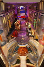 View looking down at the 'Voyager of the Seas' 350 foot long indoor ma...