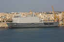 HNLMS Johan de Witt in Malta's Grand Harbour after a tour of duty on a...