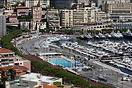 Overview of the Monte Carlo Harbour and the famous Monaco Grand Prix r...