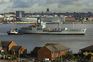 RFA Gold Rover transporting from Birkenhead docks to Cammel Lairds Shi...