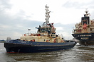 Tug Svitzer Stanlow at working at East Float, Birkenhead.