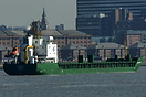 Bulker Medonega on the river Mersey inbound for the Manchester Ship Ca...