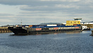 Passing Ellesmere Port on her daily run between Irlam and Liverpool be...