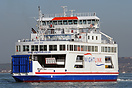 MV Wight Sun departing Portsmouth Harbour after a short maintenance vi...