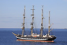 Sailing vessel Kruzenshtern bound for Vigo in Spain