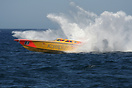 Supersport class boat no. 81 Karelpiu' splashes down hard during the U...