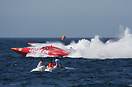 Evo class boats no. 77 Lucas Oil and no. 33 Furnibo battle it out duri...