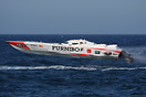 Evo class boat no. 33 Furnibo goes airbone during the UIM Ocean Grand ...
