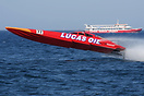 Evo class boat no. 77 Lucas Oil rears up during the UIM Ocean Grand Pr...