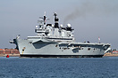 HMS Illustrious is the second of three Invincible-class light aircraft...
