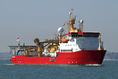 HMS Protector (A173), previously MV Polarbjorn, chartered in 2011 for ...