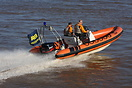 Support service boat on duty at the P1 Superstock Powerboat championsh...