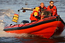 Kimberley II RIB support service boat on duty at the P1 Superstock Pow...