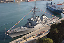 The destroyer USS Carney in Malta for a rest after operations off Liby...