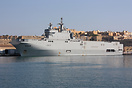 The French Navy amphibious assault ship Mistral in Malta for a break d...