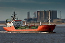 Gas Arctic departing Teesport enroute to Runcorn