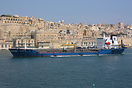 The bunkering vessel Paradise Bay entering Malta's Grand Harbour