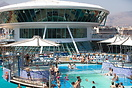 View of the childrens pool area on top deck of Grandeur of the seas