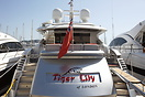 Tiger Lilly of London a Pershing 90 motor yacht with a lenght of 27.42...